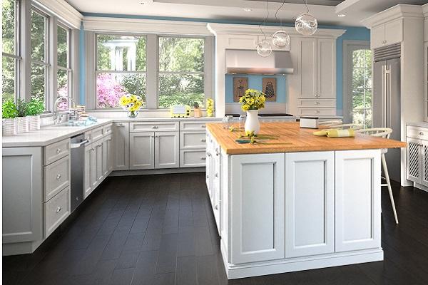 Flat Panel White RTA Kitchen Cabinets – ADI Supply serving ...